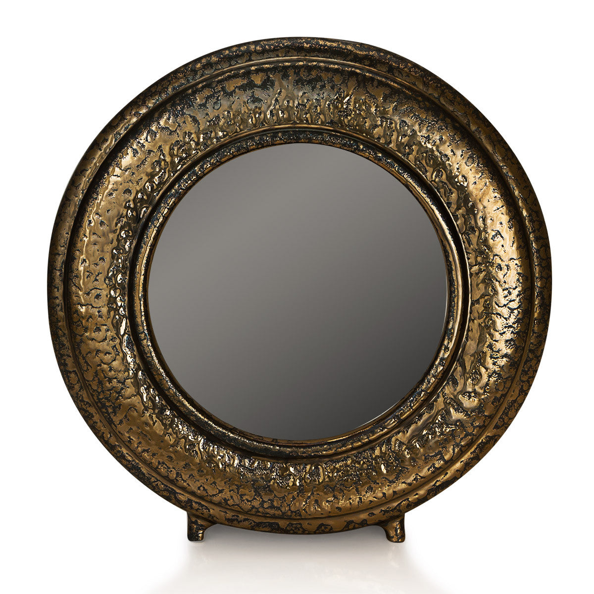 Smooth round picture frame mirror