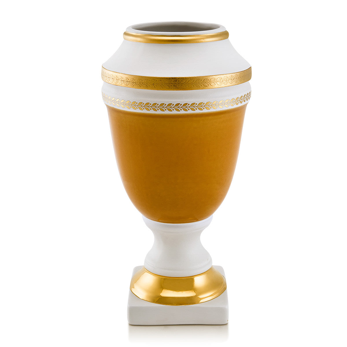 Ceramic vase with gold greek | Arcade