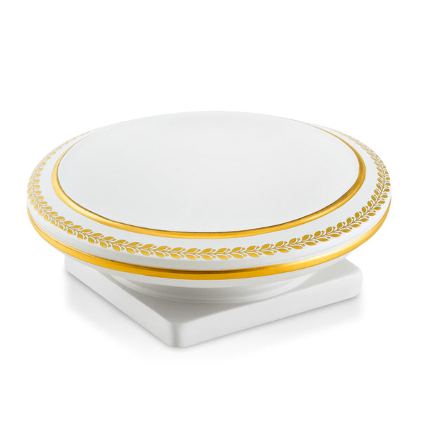 Ceramic valet tray with gold greek | Arcade