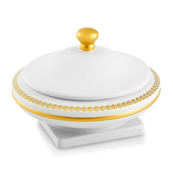 ceramic small box ideas finished in pure gold