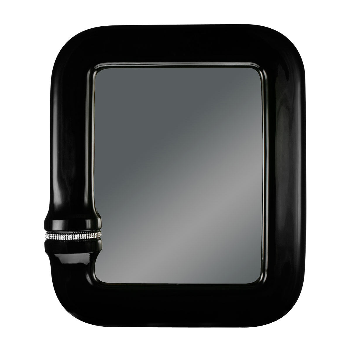 Ceramic rectangular mirror black color