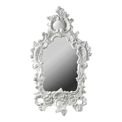 ceramic porcelain white big mirror handmade in Italy