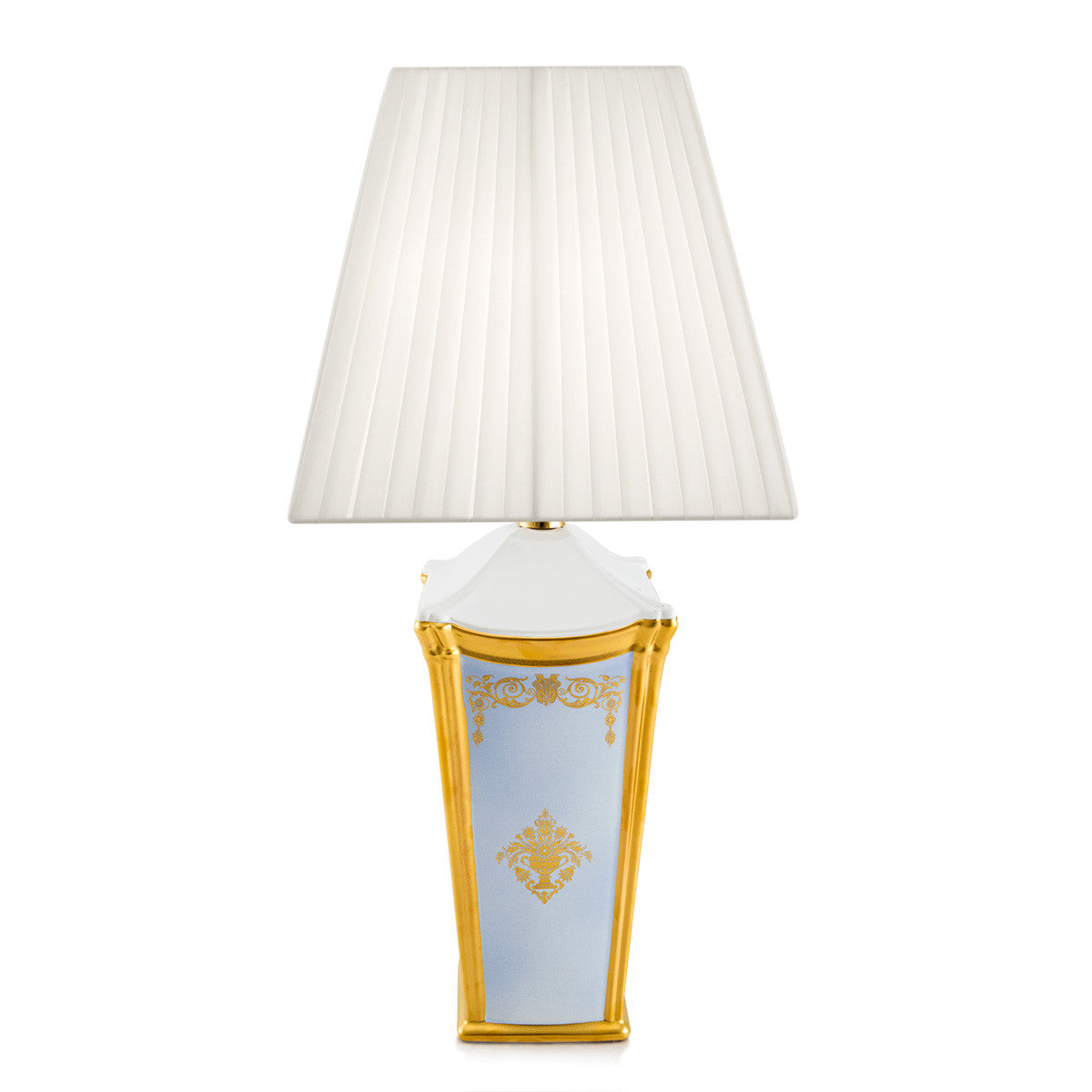ceramic table lamp | 24kt gold | gold ornaments | classic lighting