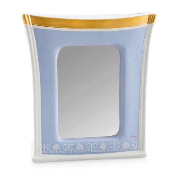 Ceramic square picture frame with ornaments
