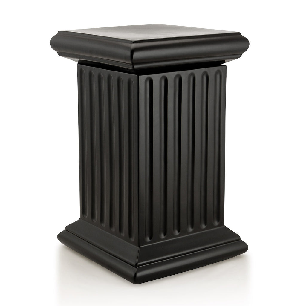 urns grecian urn dp outdoor amazon planter black pedestal bloem com garden