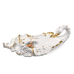 Ceramic baroque swan tray