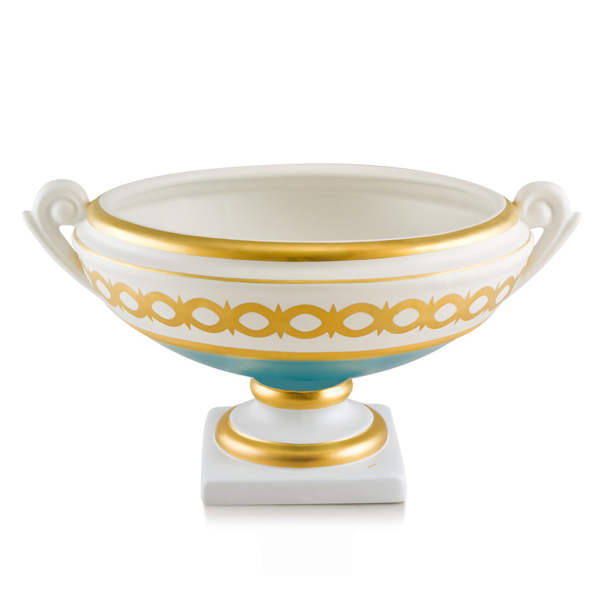 Ceramic pedestal bowl with two handles | Arena