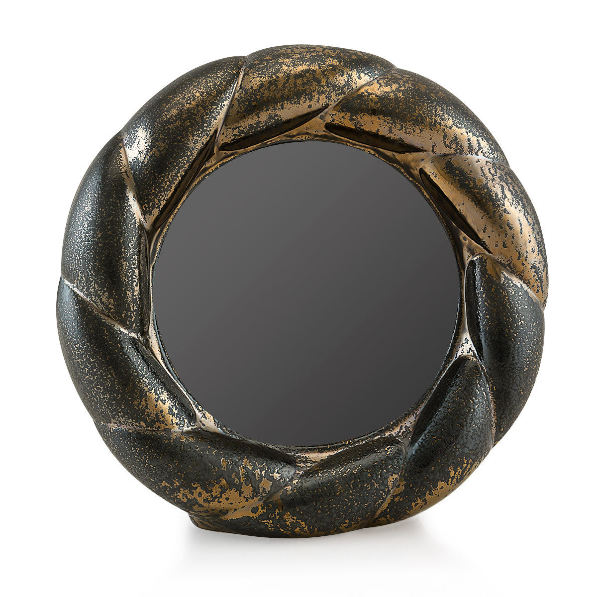 Ceramic twisted picture frame in burnished bronze finish