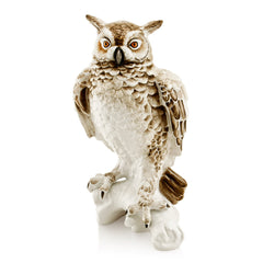 Owl statue | Ceramic animal figurines | Gift for birds lovers-Country decor