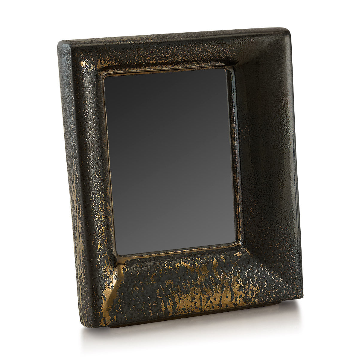 Ceramic picture frame in burnished bronze finish | Diamante