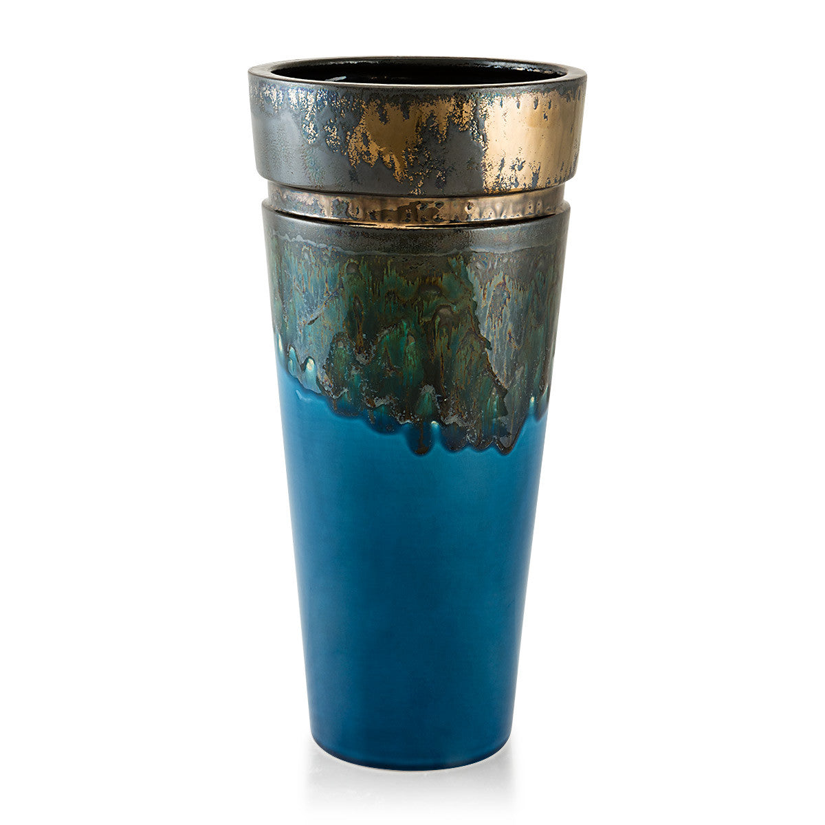 Ceramic blue vase | Reactive glaze