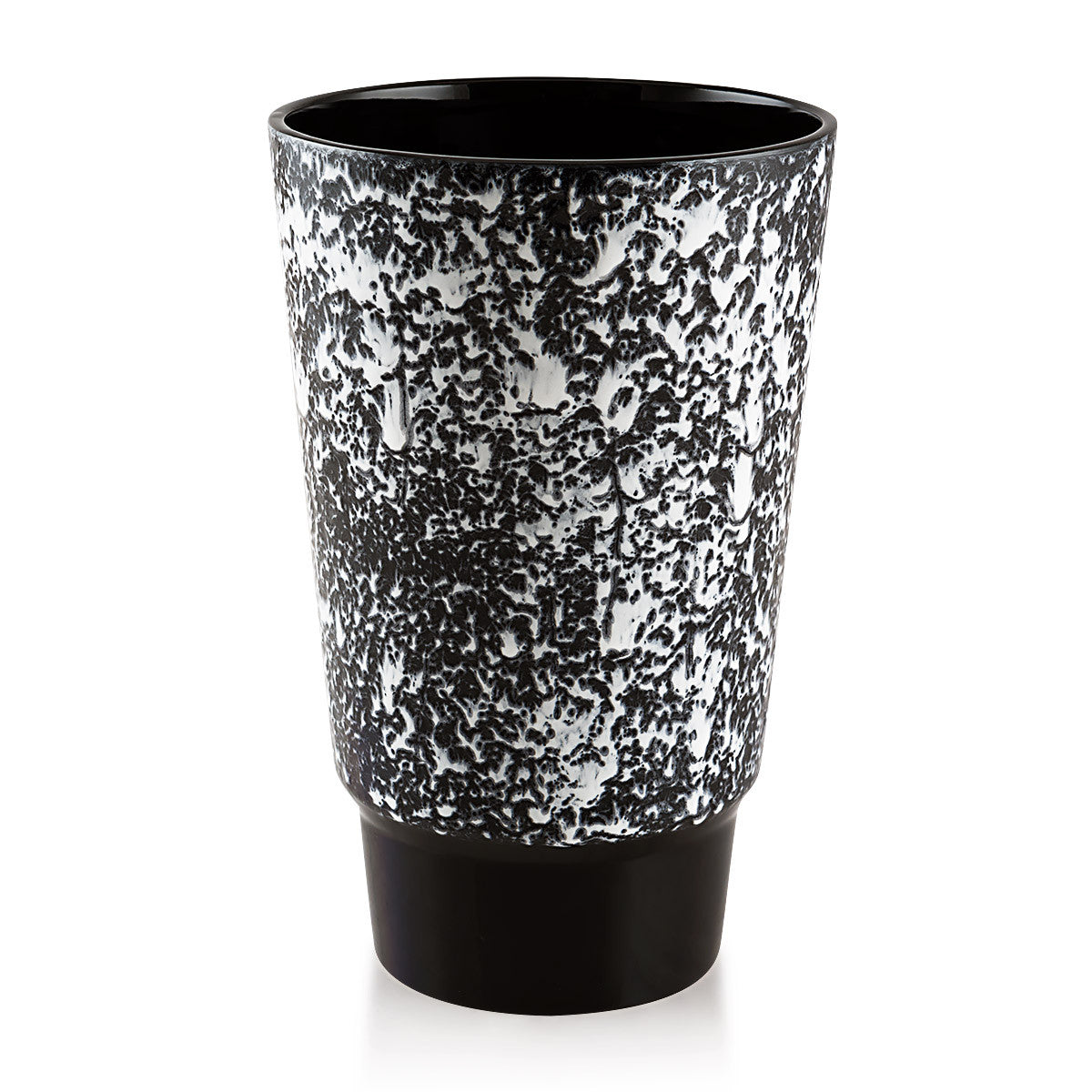 Ceramic contemporary vase with dripping effect