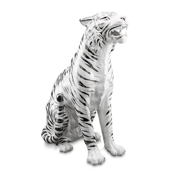 Ceramic large white tiger