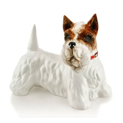 Hand Painted Italian Ceramic terrier dog statues-dog lover gifts-Country decor