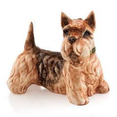 Hand Painted Italian Ceramic terrier dog sculptures-dog lover gifts-Country decor