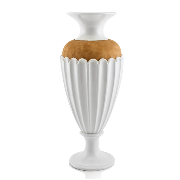 Ceramic vase with brown detail | Atene