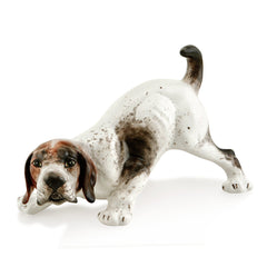 Ceramic playful beagle dog statue with lifelike details-dog lover gifts-Country ceramics