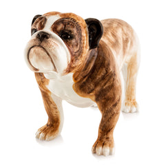 Ceramic bulldog statue with lifelike details-dog statues-dog lover gifts-Country ceramics