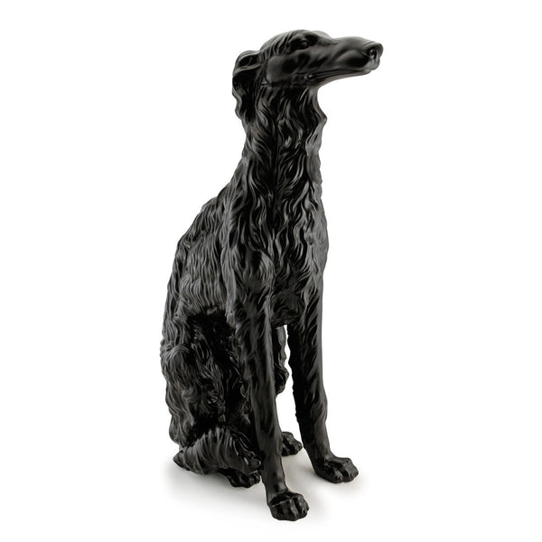 Black ceramic russian wolfhound