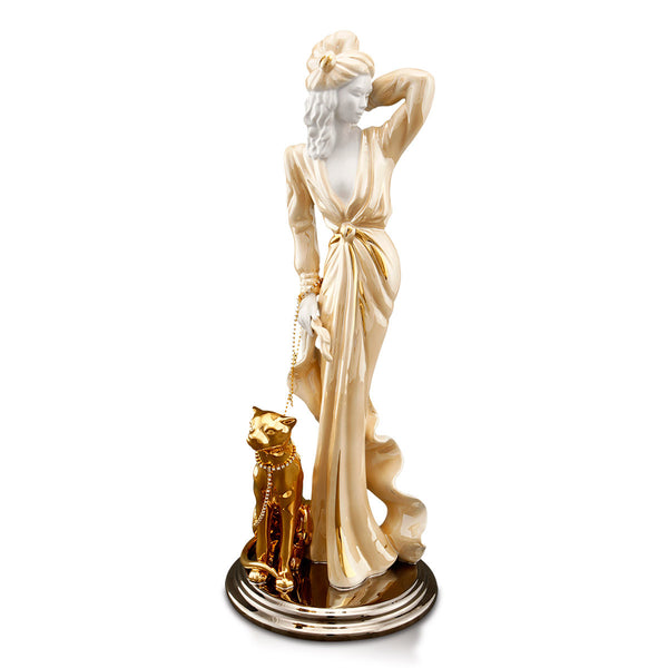 Ceramic figurine | French Lady Walking