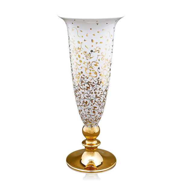 Ceramic vase with gold decorations