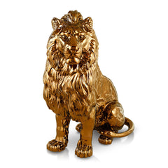 Hand Painted Italian Ceramic lion-hotel lobby furniture-large animal statues