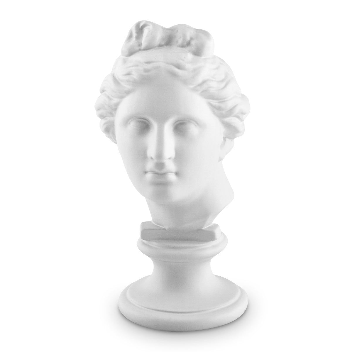 Ceramic greek bust statue white