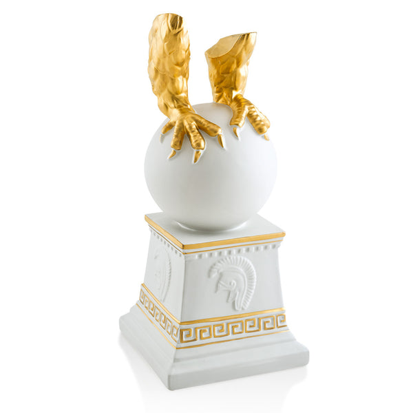 claw base ceramic porcelain finished in pure gold