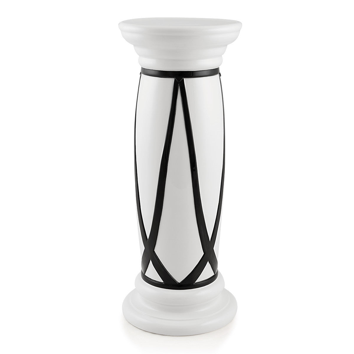 Decorative columns | Modern Design | Handmade pottery | black and white