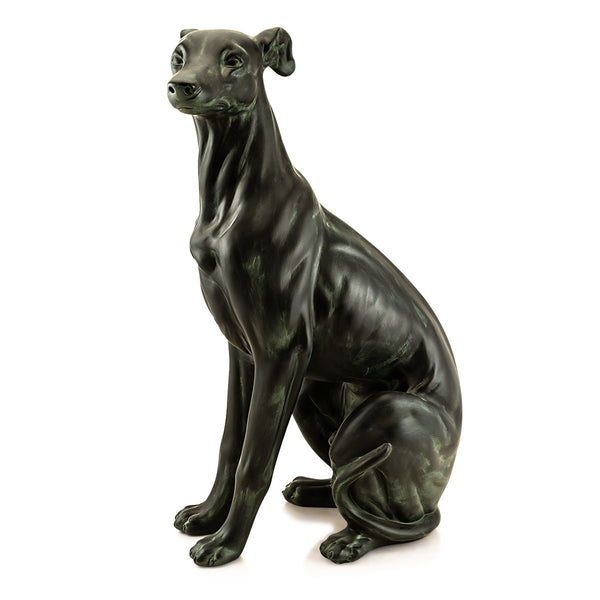 Ceramic big italian greyhound statue