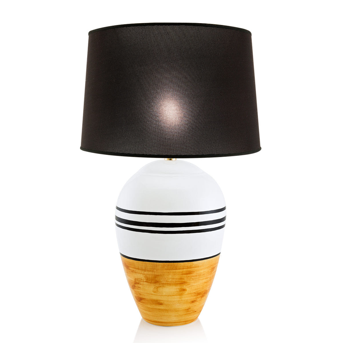 Ceramic oval table lamp | Spinning top