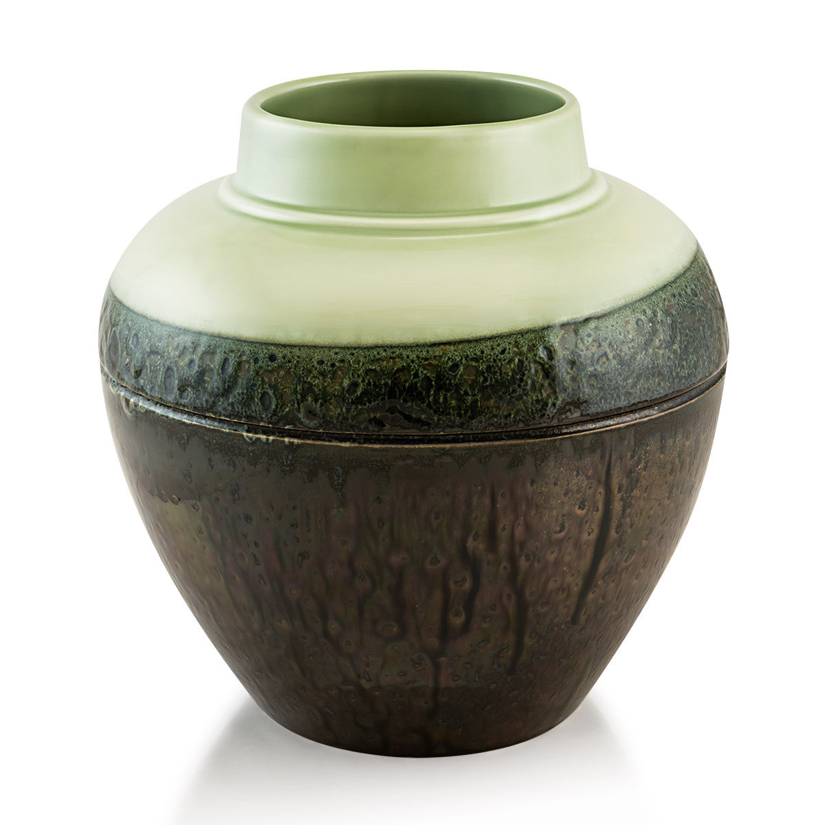 Round vases Pottery supplies Celadon color