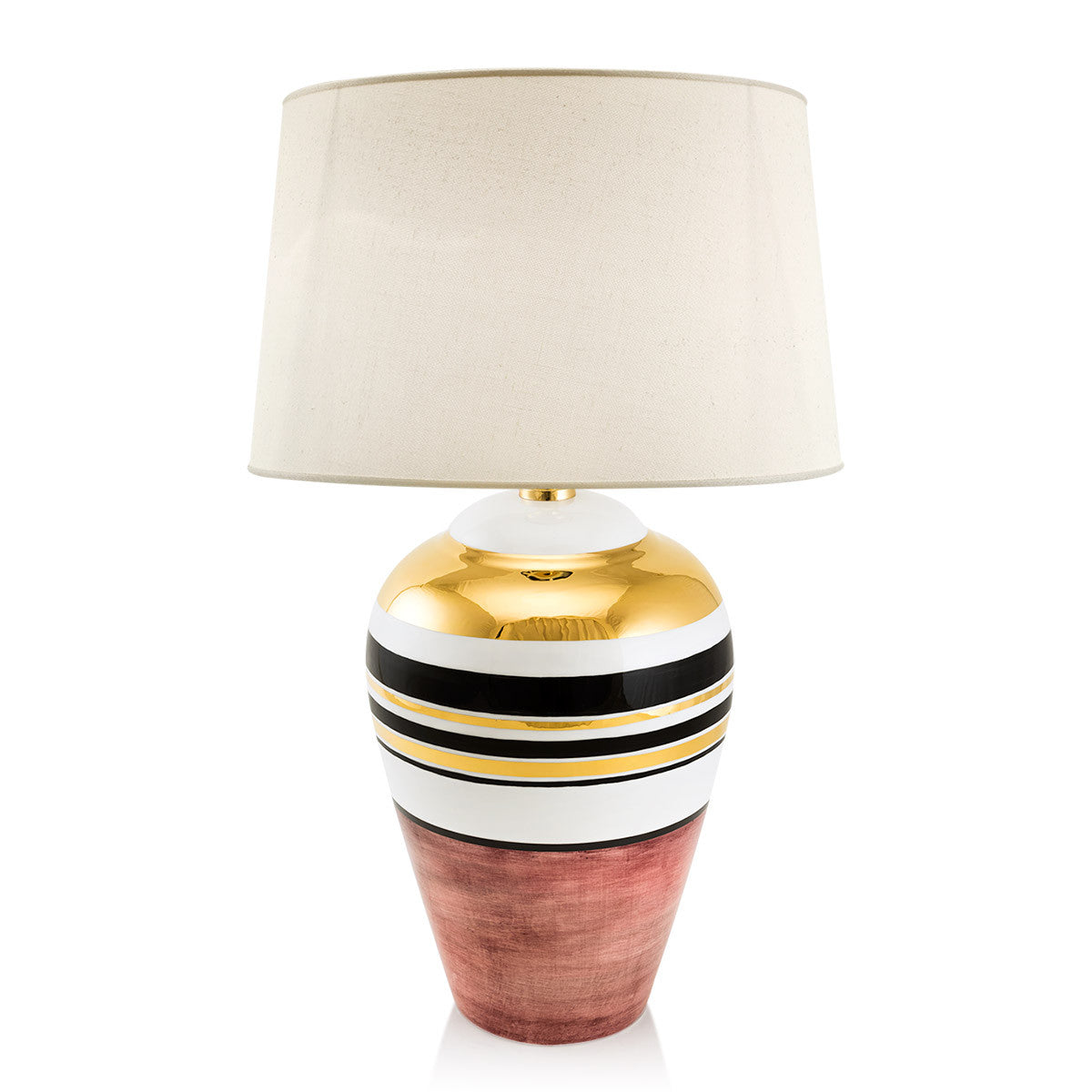 spin top ceramic table lamp | 24kt gold | glamour lighting