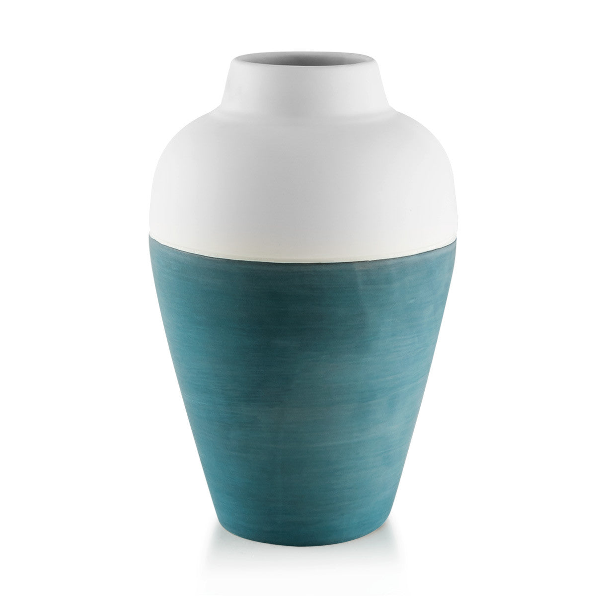 blue and white vases-shades of blue color-ceramic round vase