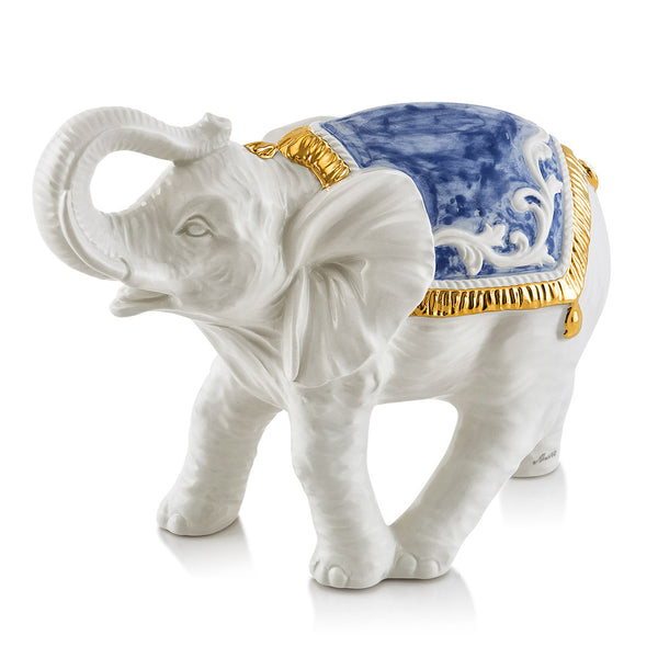 Ceramic caparisoned elephant