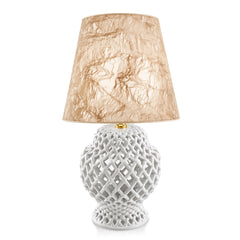 ceramic table lamps | white openwork lamp