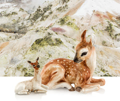 Ceramic deer animals statue