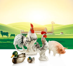Ceramic animals farm statuine