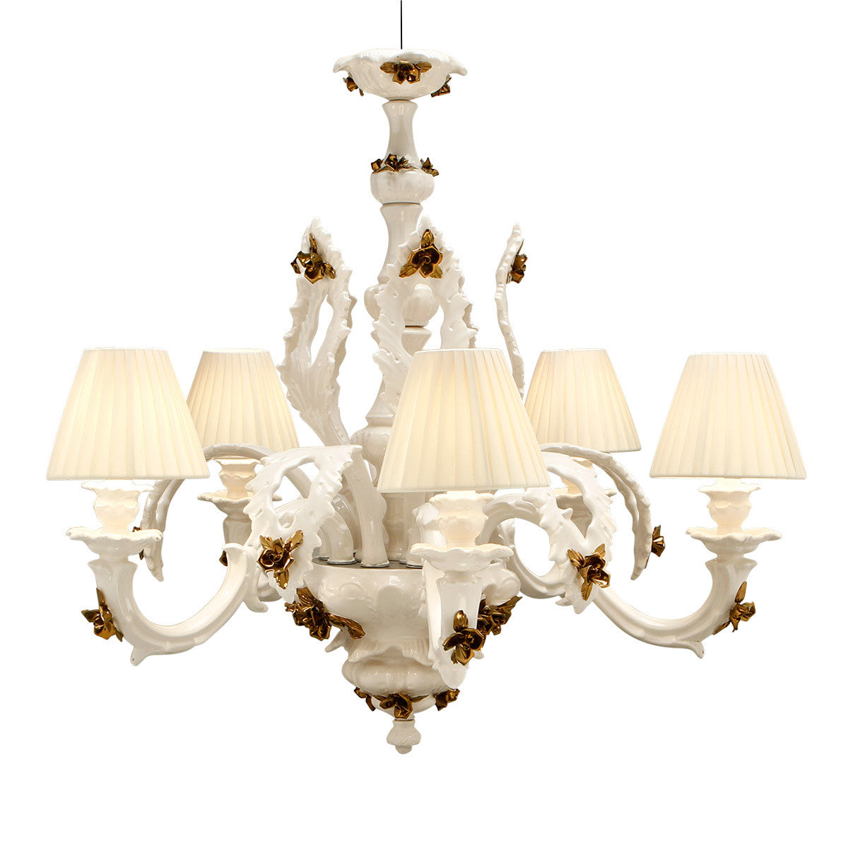 Ceramic chandelier with bronze accents zanardello srl ceramic chandelier with bronze accents entryway chandelier home lighting arubaitofo Image collections