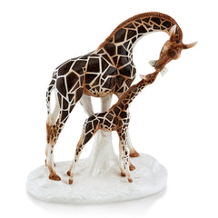 giraffe statue-hand painted pottery-Ceramic Animal Figurines-italian design-country deocor