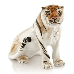 proud tiger hand-painted ceramic porcelain finished in traditional color