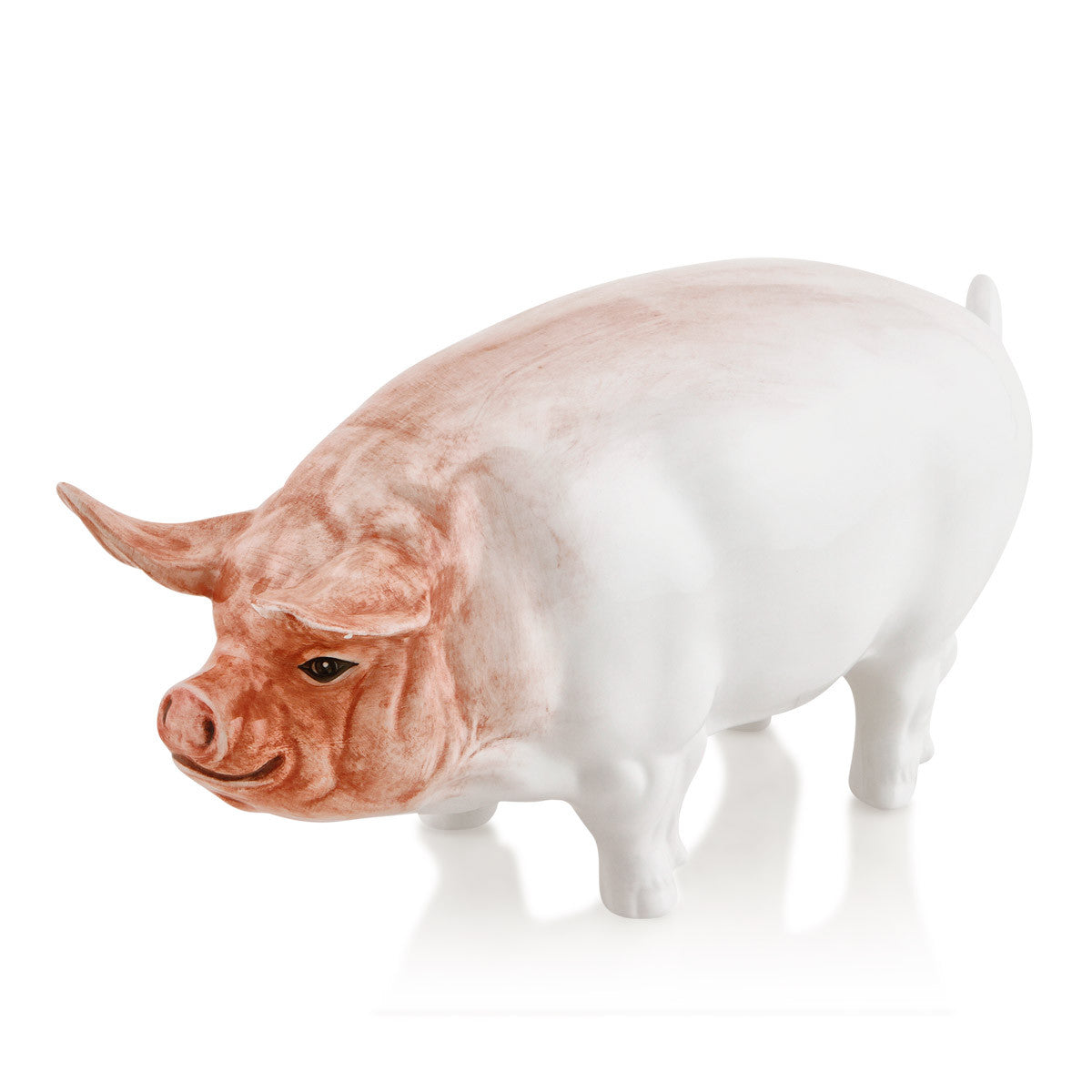 Hand Painted Italian Ceramics pig statue-gifts for animals lovers-Country decor