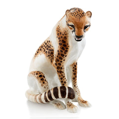 Ceramic cheetah statue