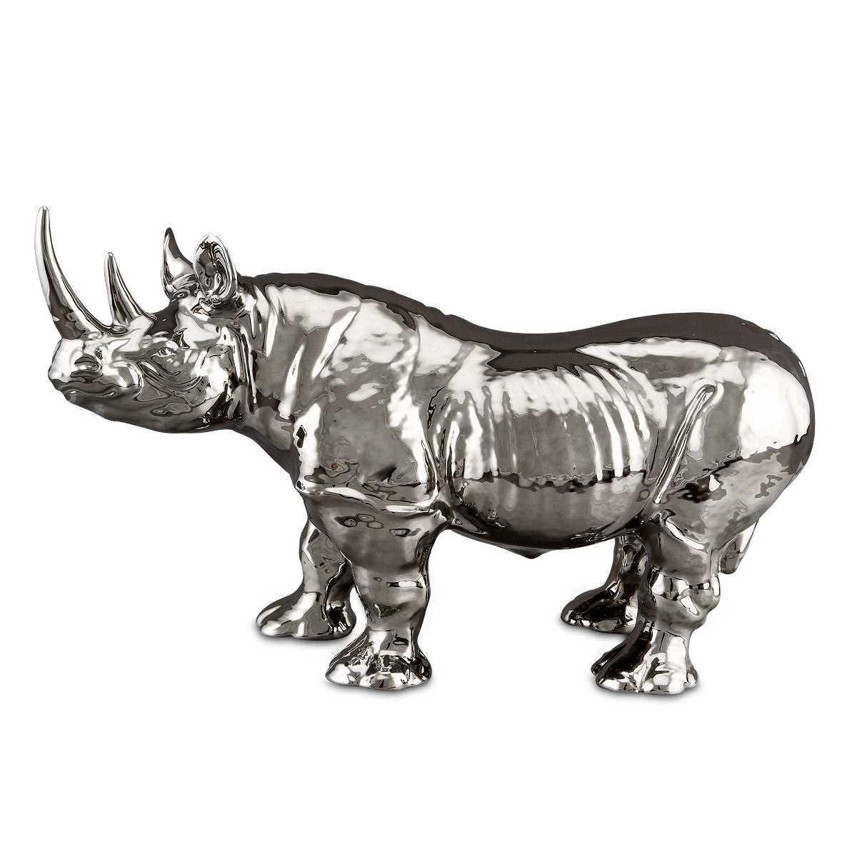 ceramic rhino statue-platinum-ceramic animal figurines