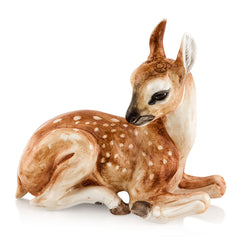 Ceramic deer figurine with lifelike details