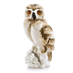 barn owl - Owl statue | Ceramic animal figurines | Hand painted pottery | Gift for birds lovers Country decor