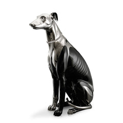 Hand Painted Italian Ceramic greyhound-dog statues-large animal statues-luxury home decor