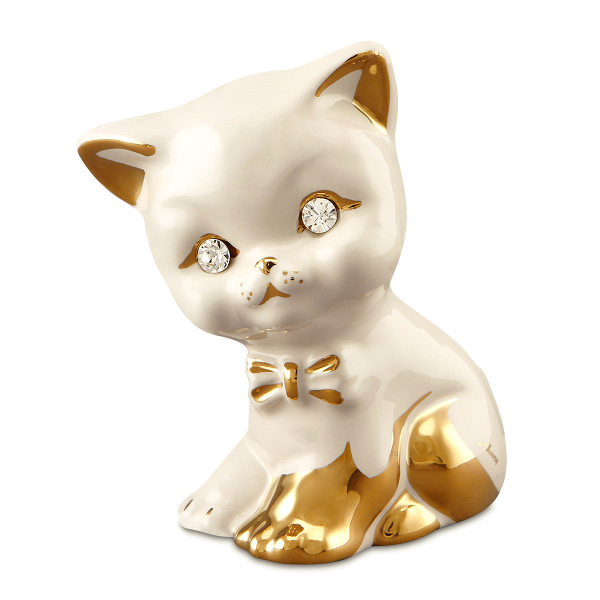 cat kitten ceramic porcelain gift handmade in italy