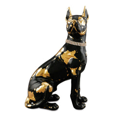 Ceramic great dane-dog statues-24kt gold-dog lover gifts