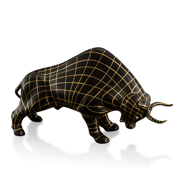Ceramic fighting bull statue with Swarovski - Wireframe